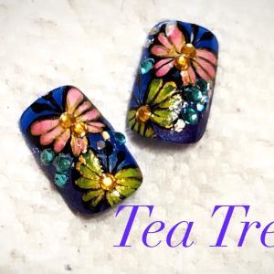蝶々を描く 【鹿児島薩摩川内 ネイル Tea Tree】