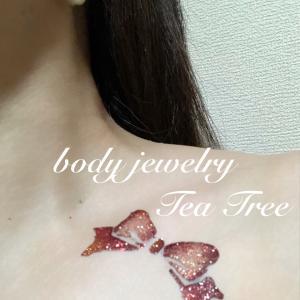 ステンシル リボン【鹿児島薩摩川内 ボディージュエリー Tea Tree】