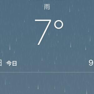 気づけば気温が、しるし初日スタート