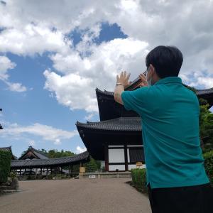京都東福寺で「雲消し実演」