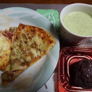 朝:熟成湯こねピザ&野菜ジュース&おはぎ 昼:中華まん、アメリカンドッグ、焼鳥ももタレ&サバスミルクプロテイン 夜:牡蠣御飯、豚肉入り野菜煮、サラダ、豆腐ステーキ&干しカタクリ煮