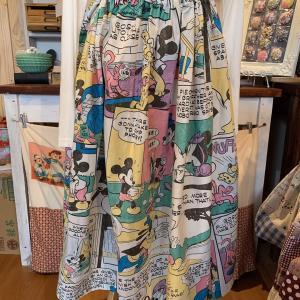 ディズニー生地で簡単ギャザースカート