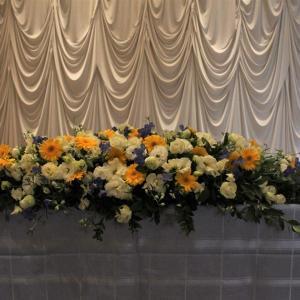 結婚式披露宴装花