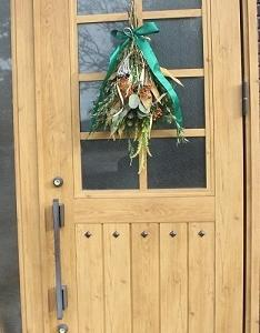 クリスマス ドア飾り