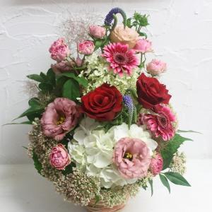 誕生日お祝い 生花アレンジメント