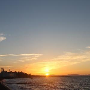 夕陽が沈む