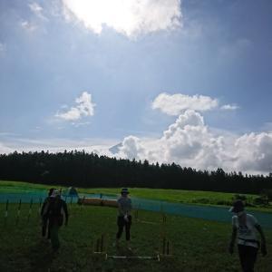 富士山の近くでイベント参加中
