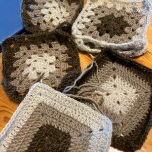 編み物すると落ち着く