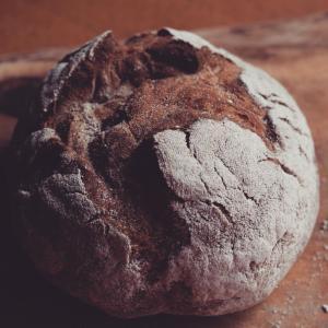 自家製酵母のライ麦パン