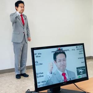政見放送の撮影