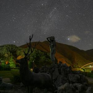 みずがき湖での星景写真 夏の大三角