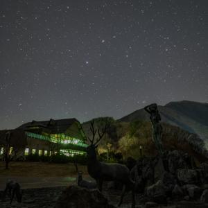 春の星座を題材とした星景写真