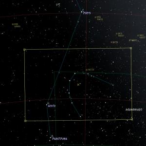 星野写真(60Da、100mm) みなみのかんむり座領域1