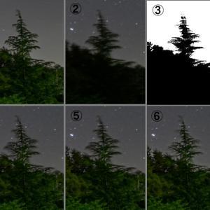 固定撮影による星景写真の試行錯誤 (1)