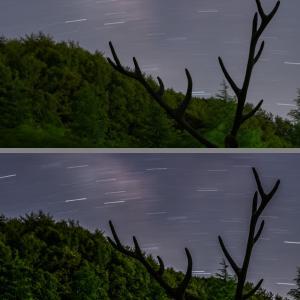 固定撮影による星景写真の試行錯誤 (2)