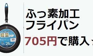 フライパン 705円で購入