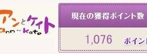 今月3度目 アンケートで1000円のポイント換金:アンとケイト