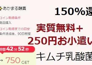 実質無料+250円のお小遣いゲット:キムチの乳酸菌サプリ 【いつもん itsumon】