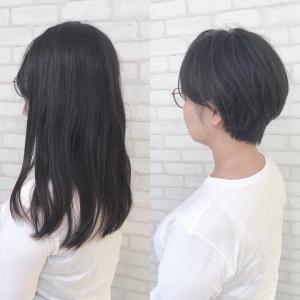 ばっさりショートヘア