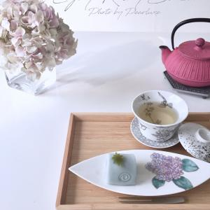 7月レッスン日程&ポーセラーツ盛り絵の具で紫陽花♡