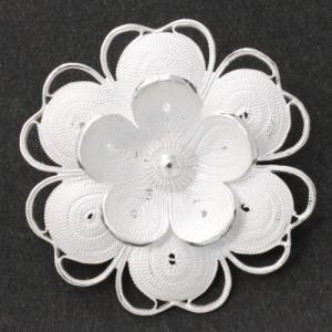 インドネシア 銀製ブローチ シルバーアクセサリー インドネシア民芸品