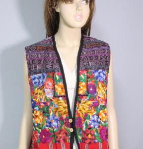 中米グアテマラ ウィピルベスト 手作りチョッキ グアテマラ民族衣装