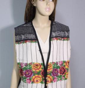 中米グアテマラ 色鮮やかなウィピルベスト 手織り グアテマラ民族衣装