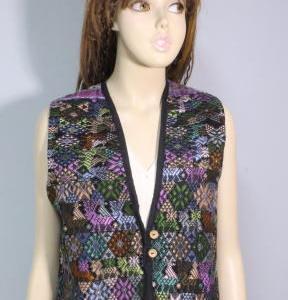 中米グアテマラ ウィピルベスト 織物 刺繍 グアテマラ民族衣装