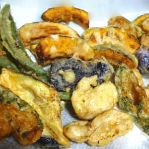 野菜の天ぷら・ブロッコリーのマヨ焼き