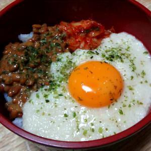 納豆とろろ丼・梅紫蘇しらす混ぜご飯