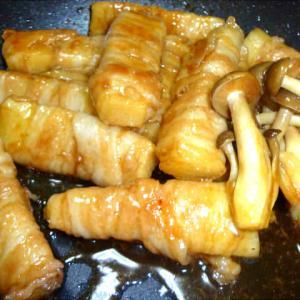 長芋の豚肉巻き・とんかつ