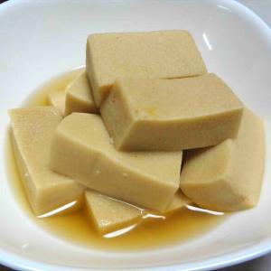 高野豆腐の含め煮・豆腐のサラダ