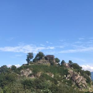 中津川の苗木城跡へ