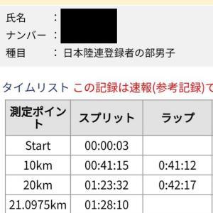 佐倉マラソン2019 結果のみ