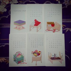 はんなりと可愛らしい卓上カレンダー