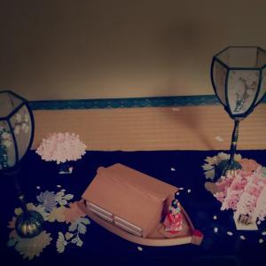 部屋でお花見