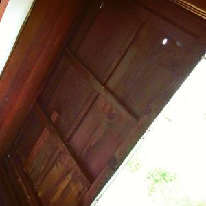 木造の雨戸
