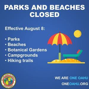 今夜から9月4日まで再びビーチとパークの閉鎖