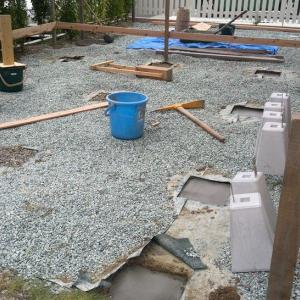 ログハウス施工開始