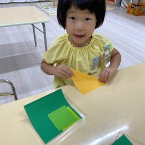 年少組さんの折り紙製作 2021,9