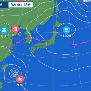 台風が来ると低気圧になって体調がくずれることもある