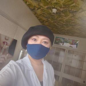 和紙100%の国産洗えるマスクとマタニティフォト