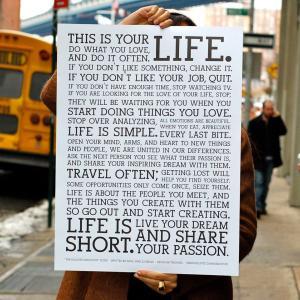 自分の愛する人生を生きようと教えてくれました