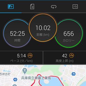 中断多き10km走@平荘湖