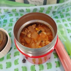 サバ缶のトマトスープ弁当