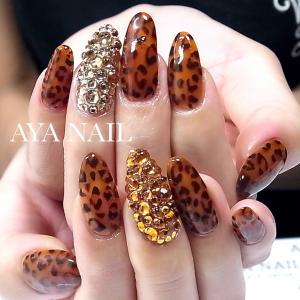Transparent brown leopard pattern