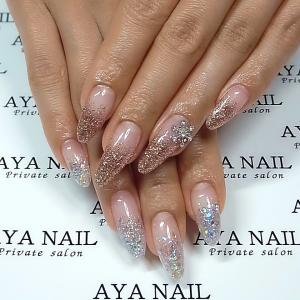 Shuffling silver and pink gold glitter