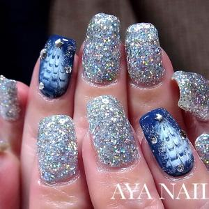 Silver glitter and Christmas tree