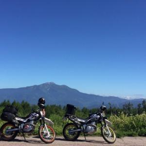 御嶽山と乗鞍岳を望むキャンプツーリング♪