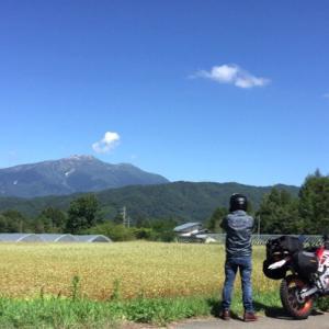 御嶽山と乗鞍岳を望むキャンプツーリング♪②